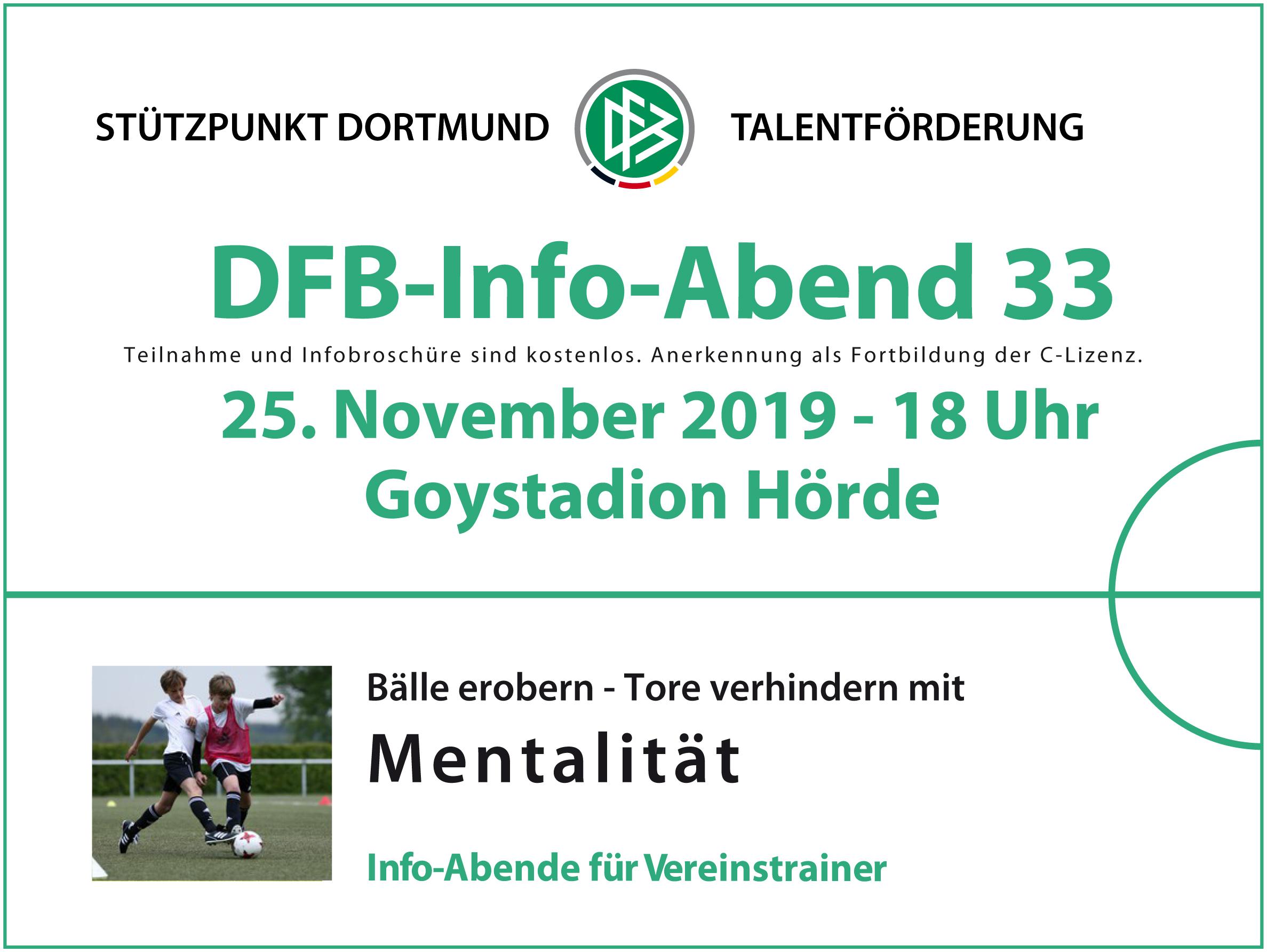 DFB-Infoabend am 25. November 2019