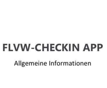 "FLVW ""Check In App"""