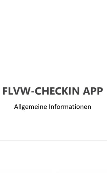"FLVW ""Check In App"""