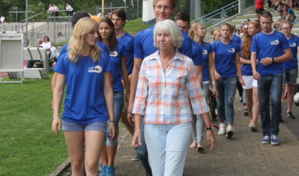 Enkel Maximilian hält Doppel-Olympiasiegerin Annegret Richter momentan auf Trab