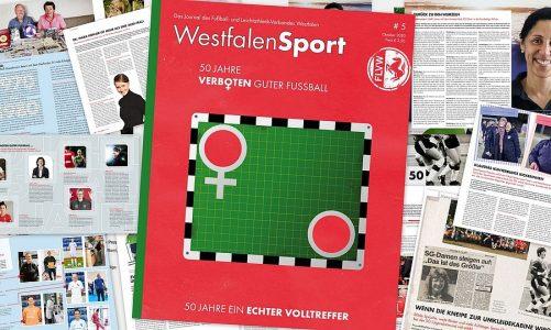 """50 Jahre Frauenfußball – WESTFALENSPORT-AUSGABE """"50 JAHRE FRAUENFUSSBALL"""" PASSEND ZUM JUBILÄUM ONLINE"""