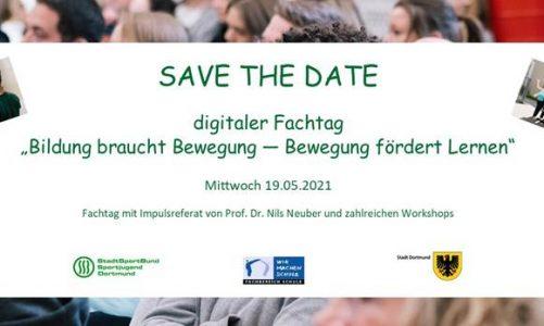 Save-the-date Fachtag Bildung braucht Bewegung am 19.05.21