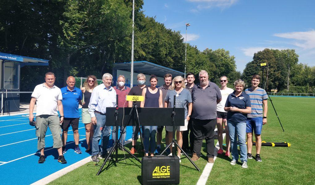 Kampfrichter-Schulung im neuen Leichtathletik-Stadion in Dortmund-Lanstrop