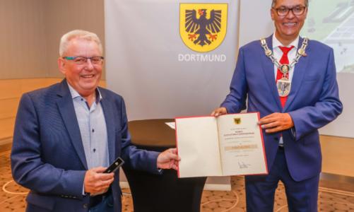 Ehrennadel der Stadt Dortmund für Jürgen Grondziewski