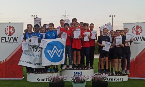 Jungen der LG Olympia gewinnen Westfalen-Titel in Arnsberg